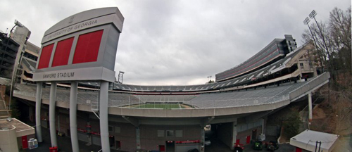 ab887751bae Sanford Stadium has long been considered one of the most impressive and  attractive football arenas in college football. Built in 1929